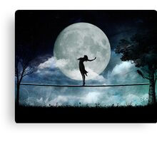 Giddy by Moonlight Canvas Print