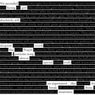Blackout poetry experiment #1 by msdebbie
