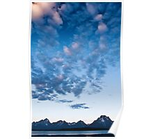 Grand Teton Buttermilk Clouds Poster