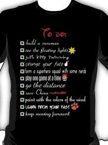 To Do List - Disney Style T-Shirt