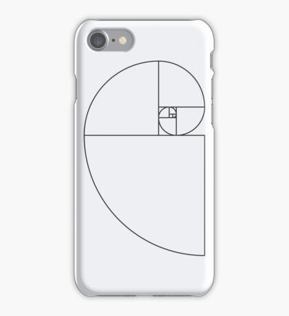 Golden Ratio Spiral - Sections Outline iPhone Case/Skin