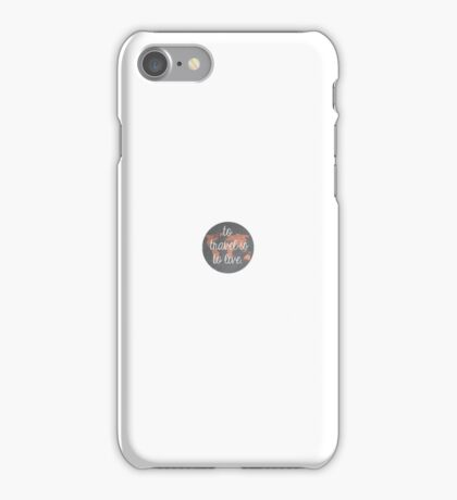 'To travel is to live' iPhone Case/Skin