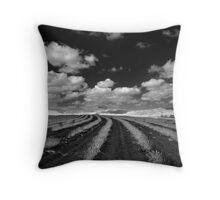 Lavender Farm IR Throw Pillow