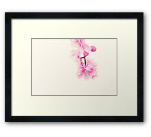 pink blossoms ... Framed Print