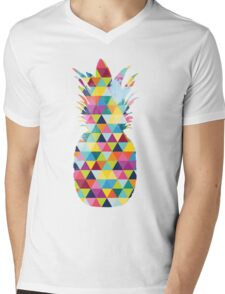 Rainbow Pineapple  Mens V-Neck T-Shirt