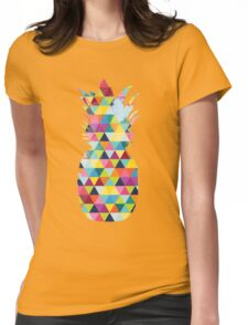 Rainbow Pineapple  Womens Fitted T-Shirt