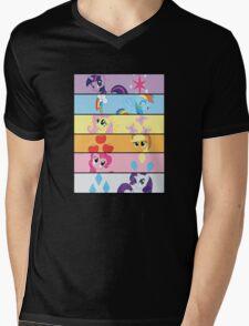 6 Mane MED Mens V-Neck T-Shirt