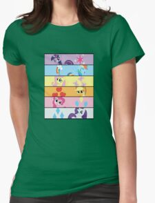 6 Mane MED Womens Fitted T-Shirt