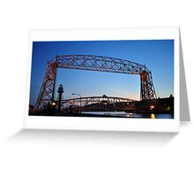 Aerial Lift Bridge Greeting Card