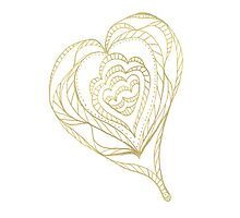 Gold Heart Photographic Print