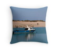 Upon calm waters Throw Pillow