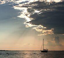 Key Largo Bay Sunset by Lucy Albert