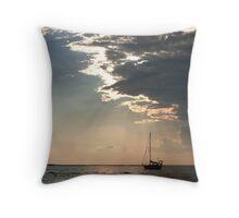 Key Largo Bay Sunset Throw Pillow