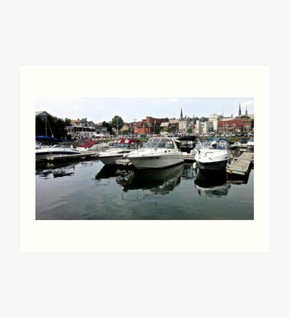 Boats on the St. Lawrence - Brockville, ON Art Print
