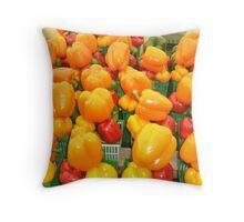 Peppers, outdoor market, Ottawa Throw Pillow