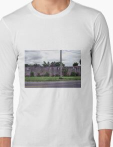 A Single Pole by the Wall Long Sleeve T-Shirt