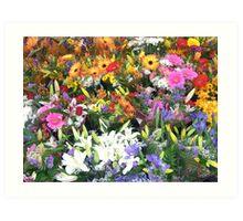 Flower Market, Ottawa Art Print