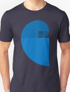Golden Ratio Spiral - Blue Sections T-Shirt