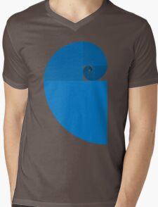Golden Ratio Spiral - Blue Sections Mens V-Neck T-Shirt