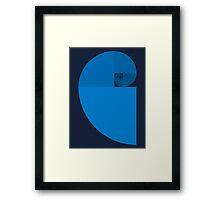 Golden Ratio Spiral - Blue Sections Framed Print