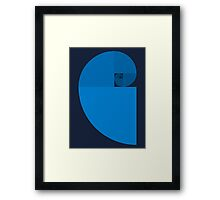 Golden Ratio Spiral - Blue Sections Framed Print