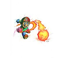"""Flower Power"". Mario from the videogame Super Mario Bros by Nintendo. Photographic Print"