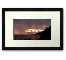 Hawkins Island in the Rain - Marathon Ontario Canada Framed Print