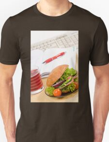 Sandwich with vegetables and juice  Unisex T-Shirt