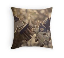 Snips and snails and puppy dog tails.... Throw Pillow
