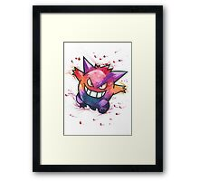 """King of Ghosts"". Pokemon ""Gengar"" from the videogame Pokémon by Nintendo.  Framed Print"