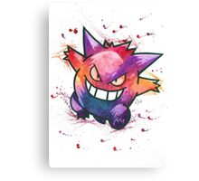 """King of Ghosts"". Pokemon ""Gengar"" from the videogame Pokémon by Nintendo.  Canvas Print"