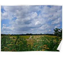 Summer Clouds Passing Over Poster