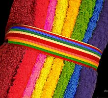 Rainbow Washcloths by Kenneth Hoffman
