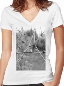 Its A Big World Women's Fitted V-Neck T-Shirt
