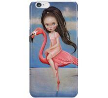 Flamingo Rider by Raul Guerra iPhone Case/Skin