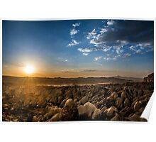 Stunning Sunset view of Cappadocia  Poster