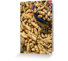 Potatoes in the Cotacachi Outdoor Fruit and Vegetable Market Greeting Card