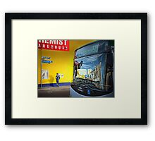 Streets and travellers Framed Print