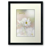 Purity © Vicki Ferrari Photography Framed Print