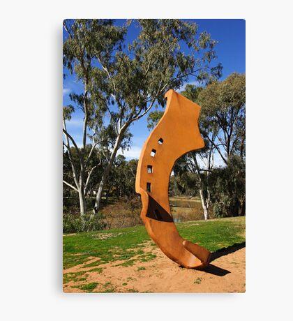 Shod sculpture at Deniliquin Canvas Print