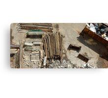 demolition site Canvas Print