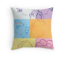 6 Main_squares 2 poster/card/print Throw Pillow