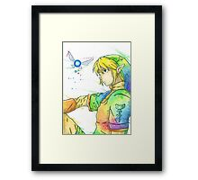 """So far, but so close"". Character ""Link"", from the videogame ""The Legend of Zelda"" by Nintendo. Framed Print"