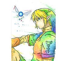"""So far, but so close"". Character ""Link"", from the videogame ""The Legend of Zelda"" by Nintendo. Photographic Print"