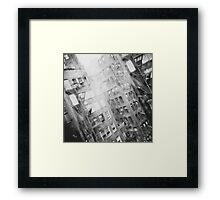 New York Double Exposure Framed Print