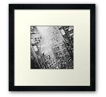 New York Double Exposure Framed Print
