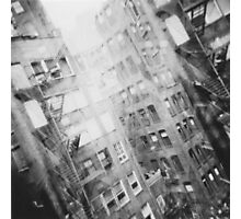 New York Double Exposure Photographic Print