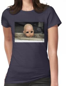 Save Me Steam Punk Doll Head Womens Fitted T-Shirt