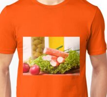 Crab sticks of surimi imitation Unisex T-Shirt