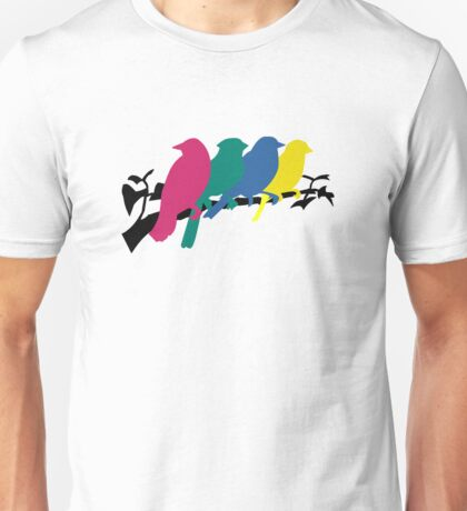 Birds Hanging Out Unisex T-Shirt